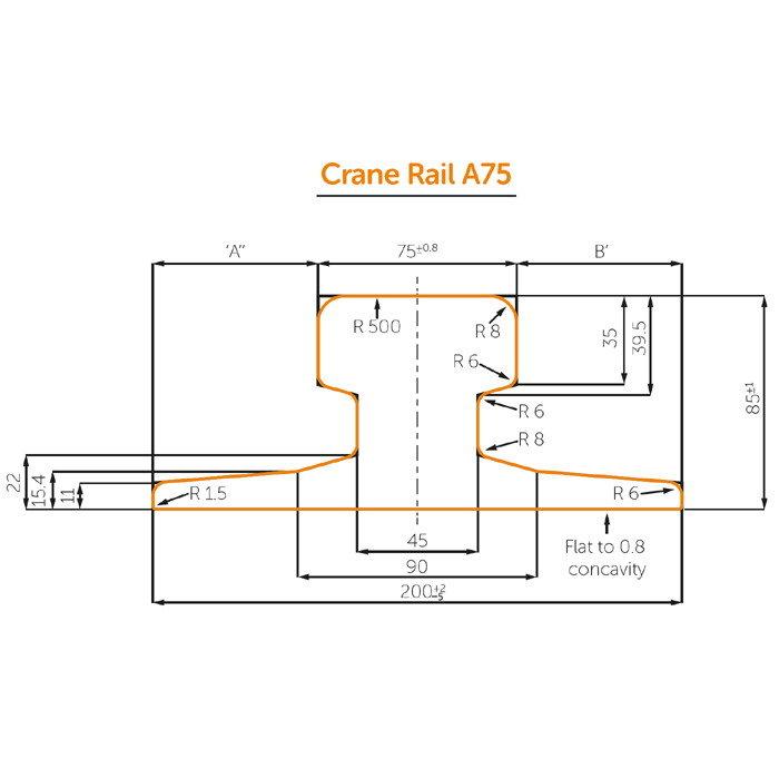 DIN536 Standard A75 Crane Rail
