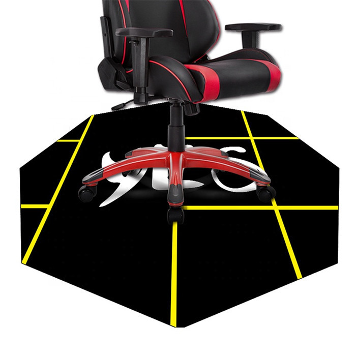 Tigerwings Natural Rubber Bottom Smooth Speed Surface E-Sport Gaming Chair Floor Mat