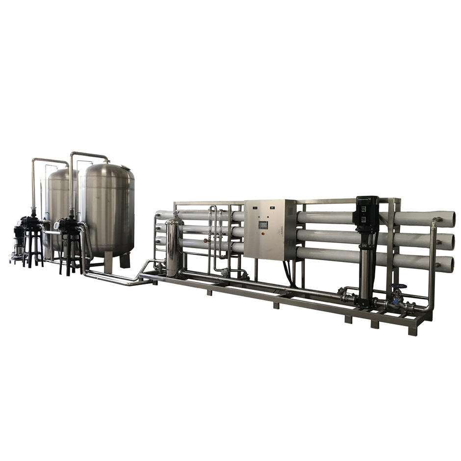 Liquid hand wash usage pure water treatment equipment with stainless steel pretreatment tank and pipeline