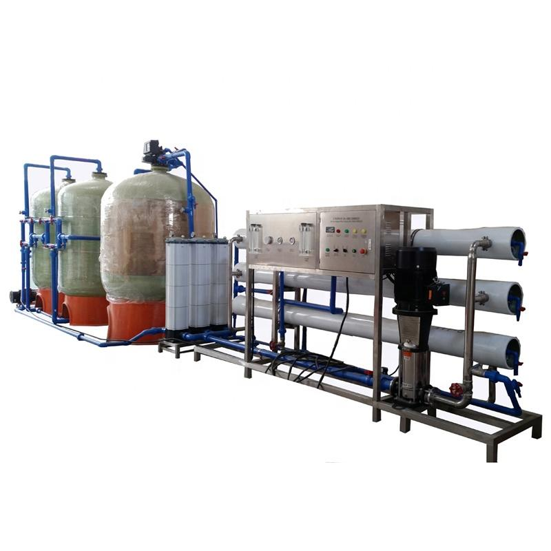 Liquid hand wash usage pure water treatment machine with FRP pretreatment tank and pipeline