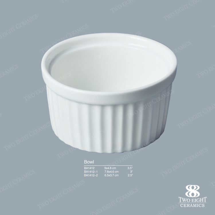 Wholesale fine porcelain sauce bowl, microwave cake bowl, hotel table ware