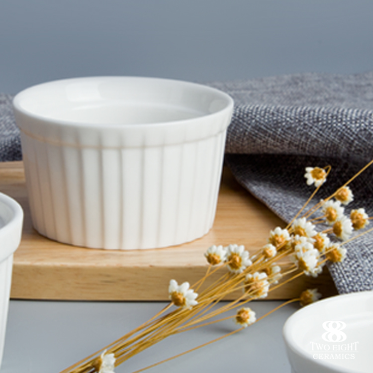 Hotel & restaurant tableware ceramic stripe bowl dessert dish