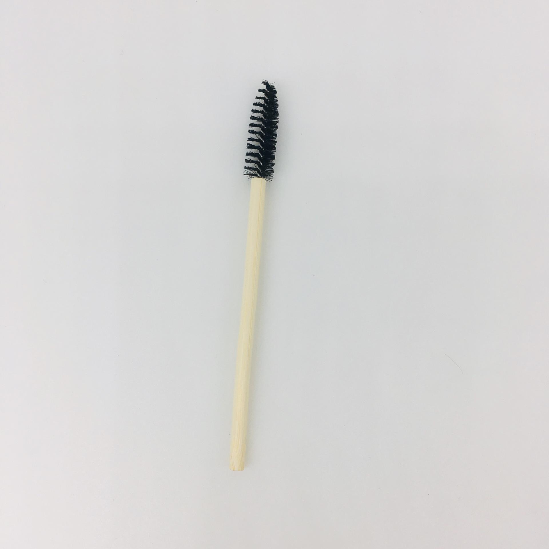 Disposable makeup applicator bamboo handle mascara brush eco-friendly degradable bamboo mascara wand