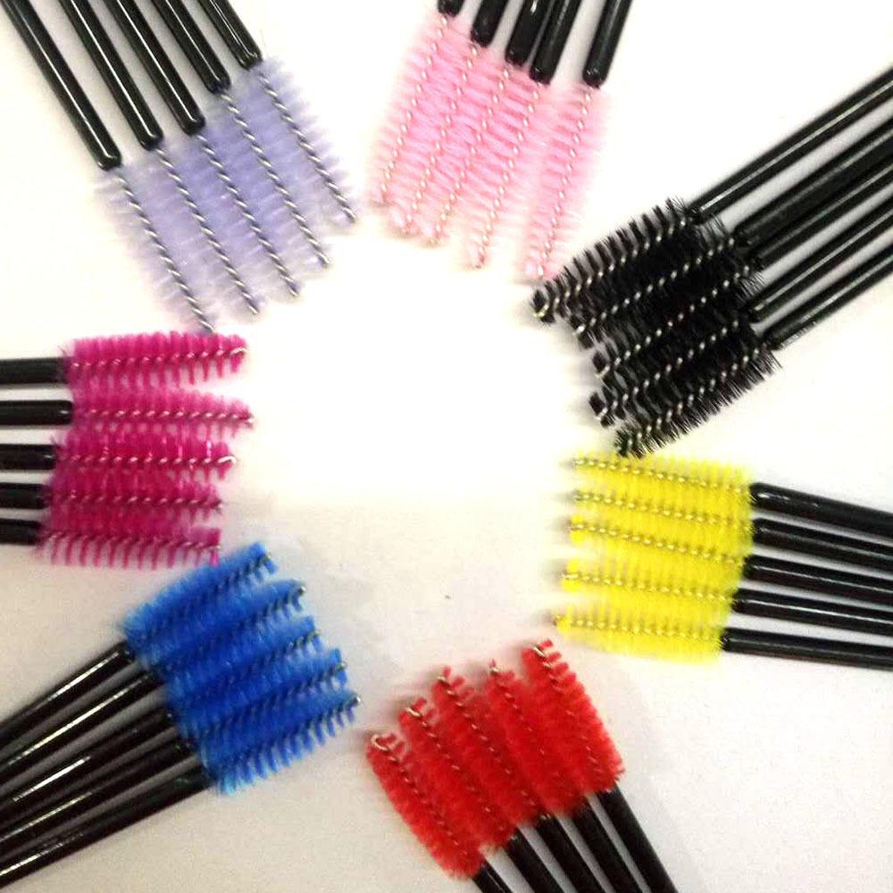 Plastic handle makeup disposable mascara wands
