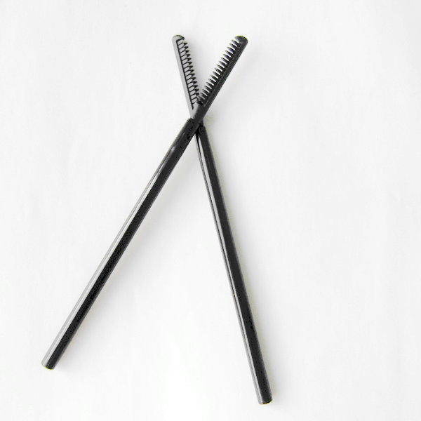 Disposable silicone mascara brush