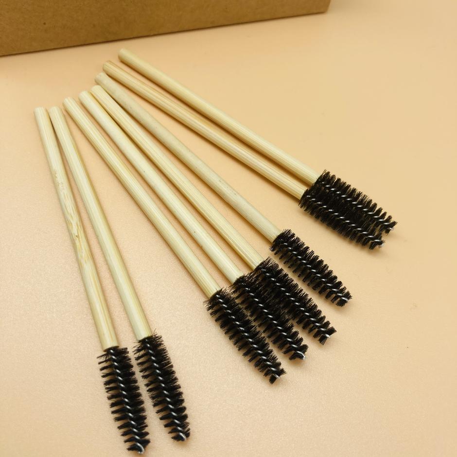Eyebrow Brush and Spoolies Duo Custom Luxury Silicone Eyelash Lash Spoolie Brush