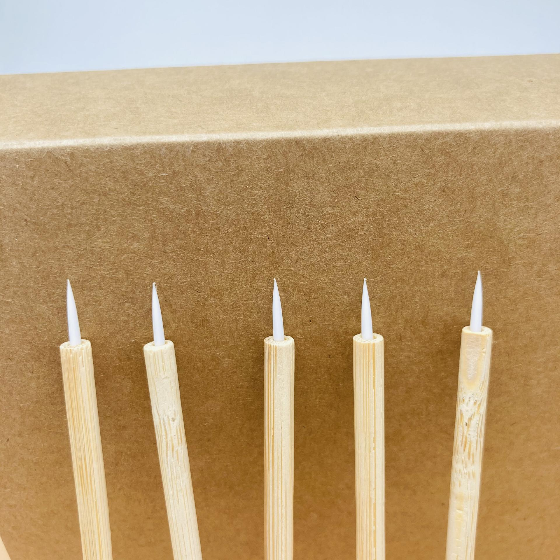 Eco-friendly Applicators with Bamboo Handle Mascara Wand Lint-free Applicator Lip Brush Eyeliner Brush