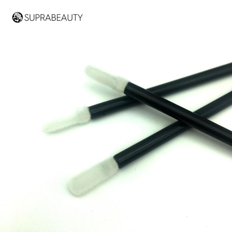 Flocking silicone lip applicator / disposable makeup applicators