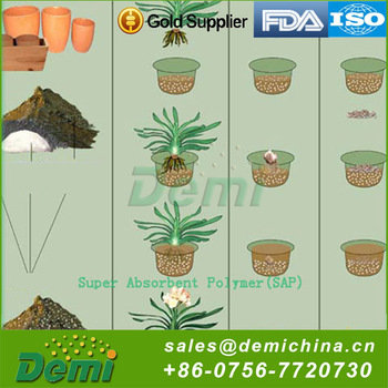 Water Retention Agent SAP Super Absorbent Polymer Powder For Agriculture Using