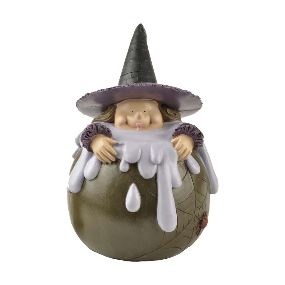Small MOQ Handmade Resin Halloween crafts Witch Home Decor figurine