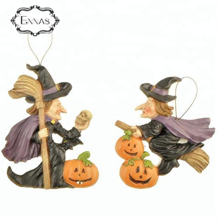 Resin Wholesale Halloween Decoration Wicked Witch Ornament