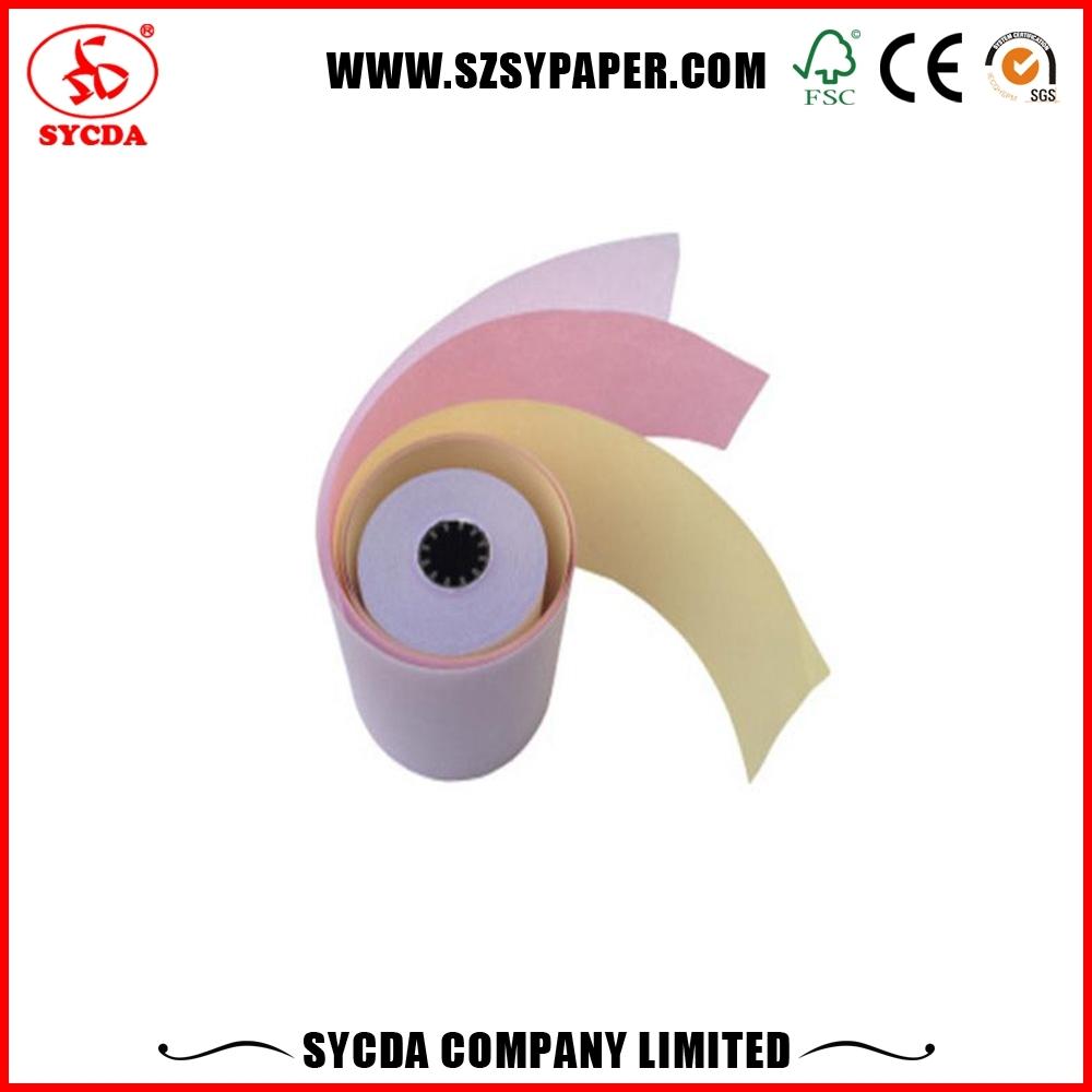 100% wood pulp jumbo roll NCR laser paper 50 60 gsm