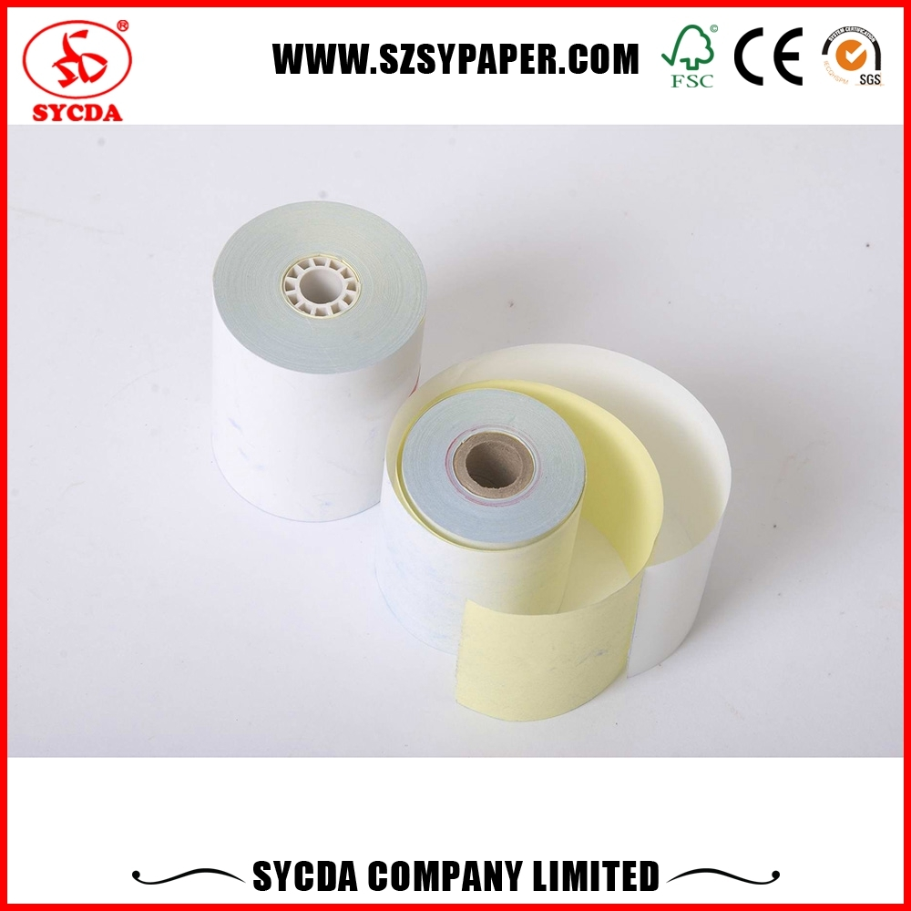 57mm*50mm carbon-less POS Receipt Paper custom printed carbonless roll 3 duplicates