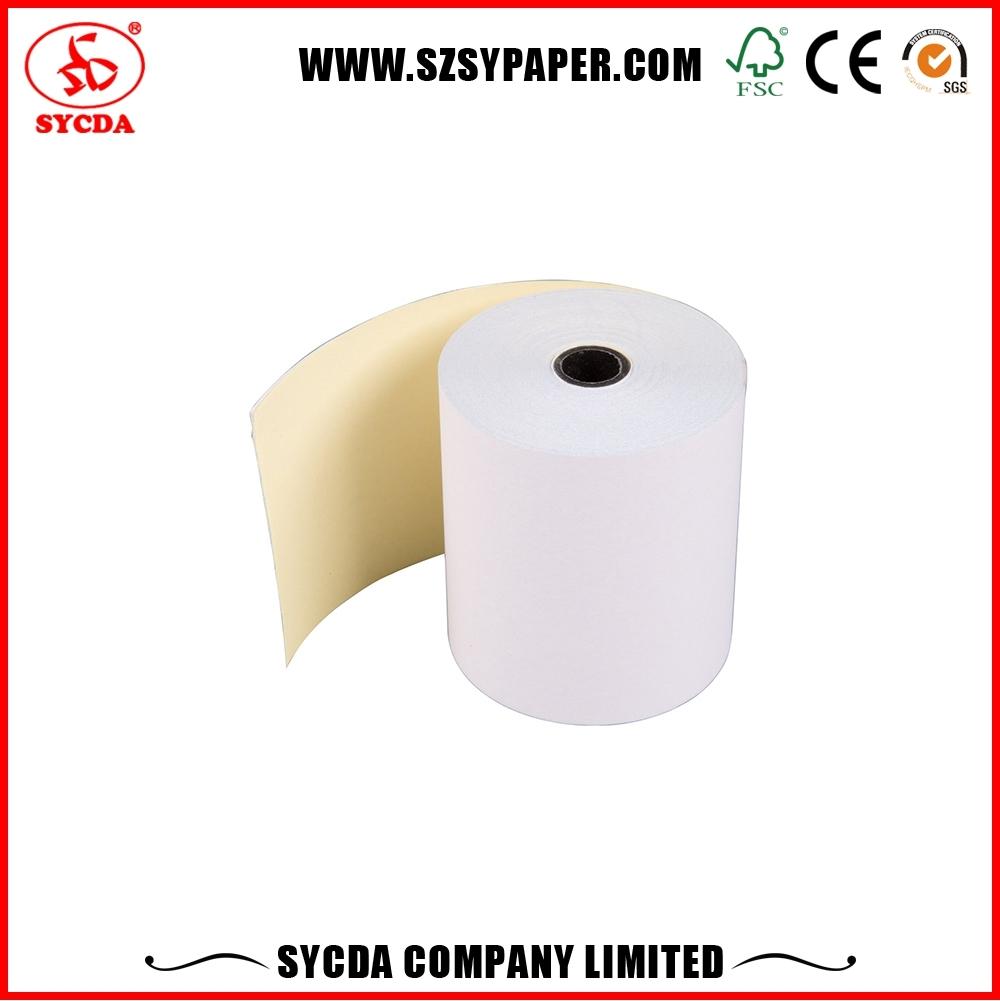 printing copy paper 100% wood pulp carbonless roll custom printing for dot matrix printer