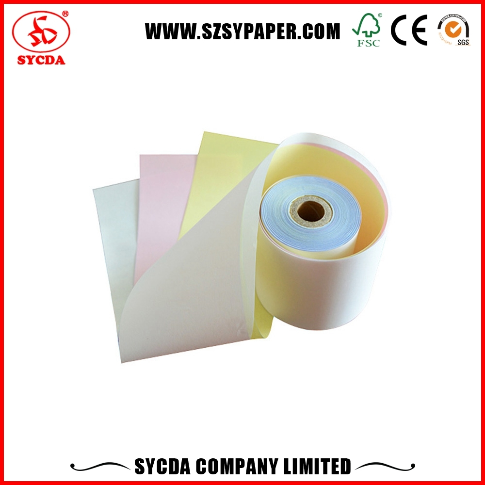 50GSM NCR Copy Paper Roll duplicate roll digit paper