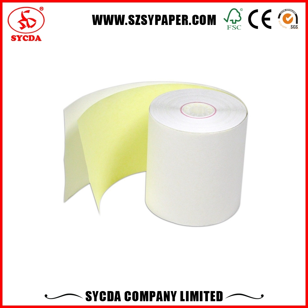 Receipt book carbonless invoice printing NCR Printing Paper 3-Ply Cash Register Paper