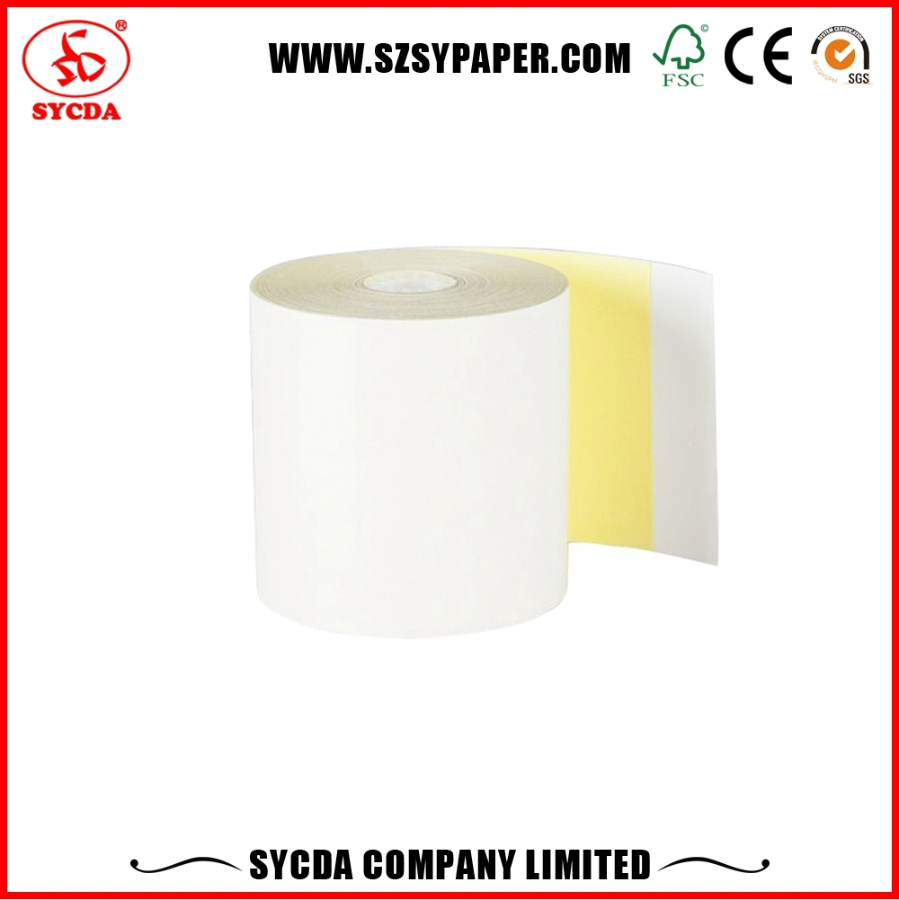 57mm*50mm carbon-less POS Receipt Paper 3 ply NCR roll digit paper