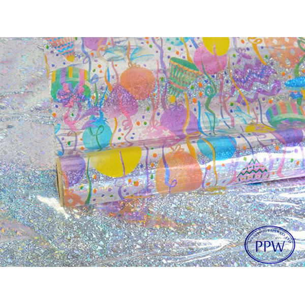 Birthday Design Holographic Wrapping Paper for Gitfs HOT SALE