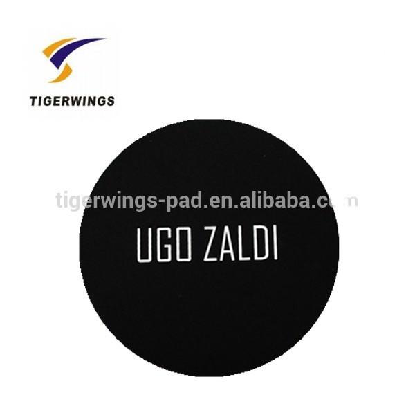 2019 popular Tigerwings make fabric coasters/black glass beer coaster printing