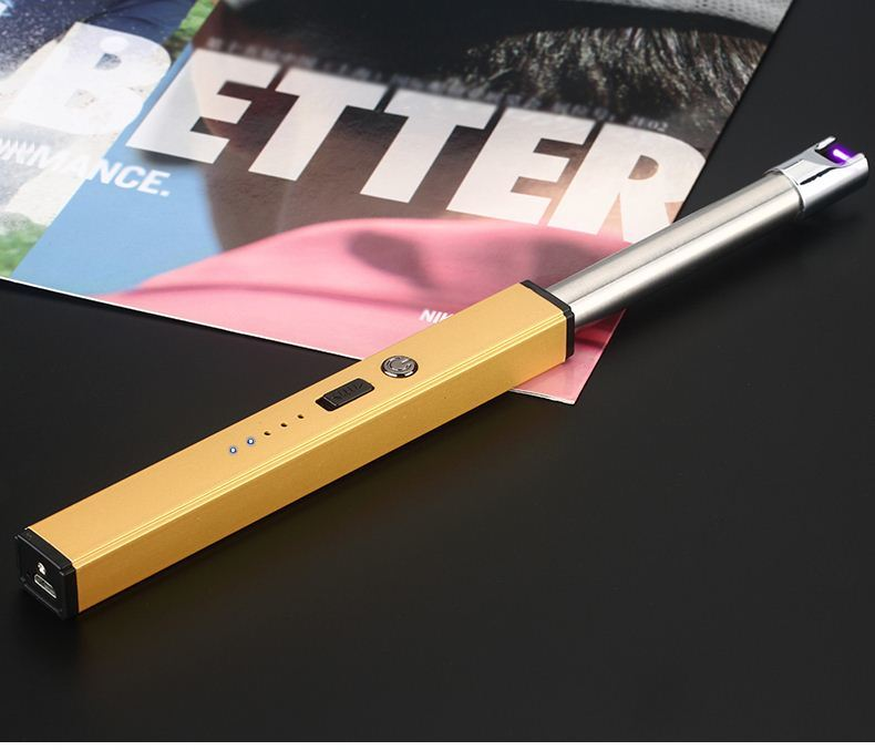 New design flexible tube Gas Lighter for Restaurant/Bar/BBQ blue fire metal tube gas lighter