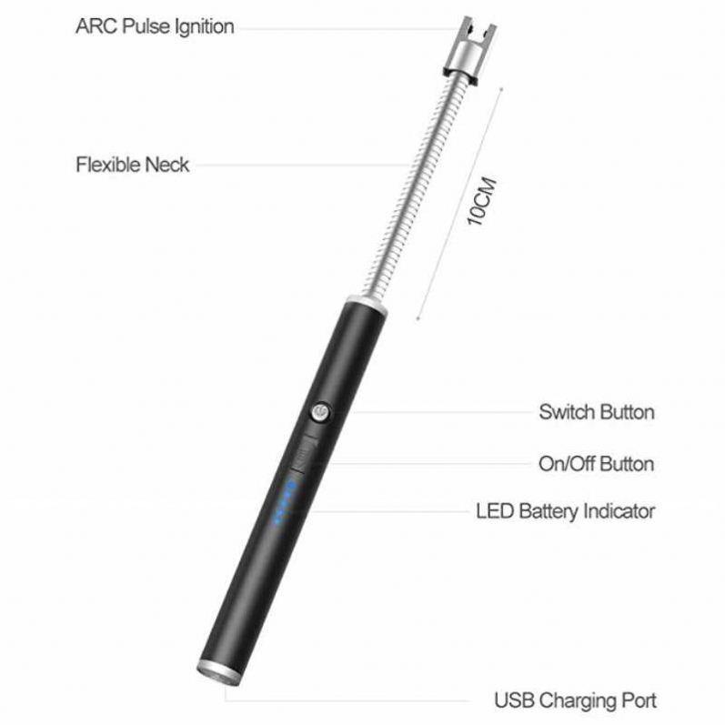 Personalized New Wholesale Custom Smoking Cigarette Electronic Usb Lighter Kitchen Metal