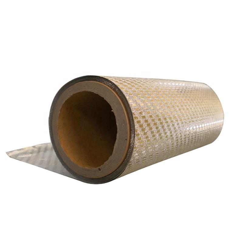 Custom Aluminium foil coated glitter thermal Laminating PET protective film