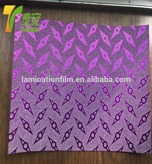 Glitter Thermal Lamination Film CPP flexible packaging decorative glitter matte thermal lamination film