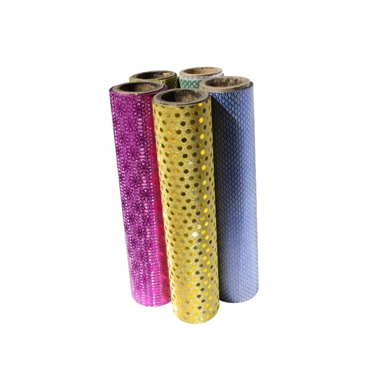 seamless transparent and many color glitter sparkle lamination film for printed paper decorate