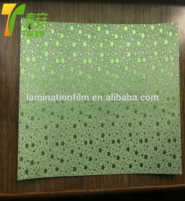 Hot Laminate Film Glitter Thermal lamination FilmRollLaminating Film Glitter decoration
