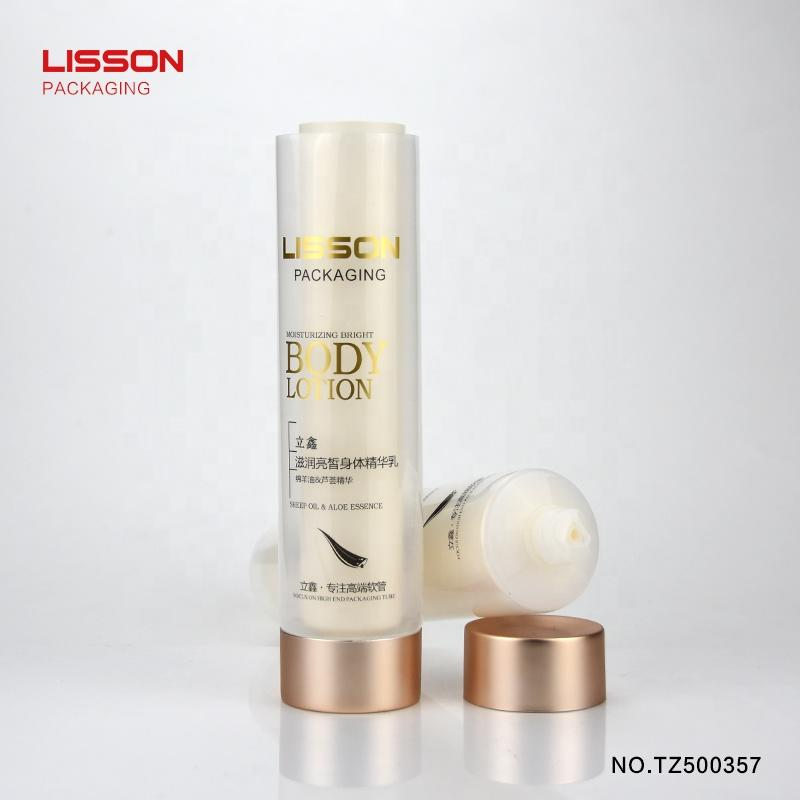 Unsealed dual-phase Twin Tube, dual chamber plastic tubes for cosmetics
