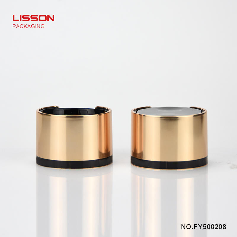 empty custom Press cap packaging tubes plastic containers cosmetic
