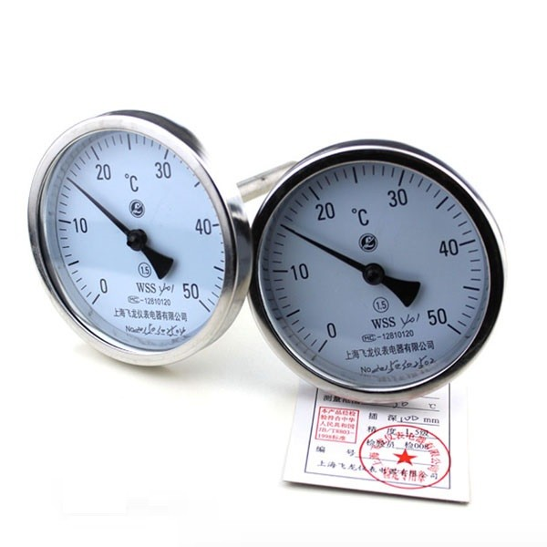 Dial probe thermometers with 60mm bi-metal dial 300mm length probe 0-50c