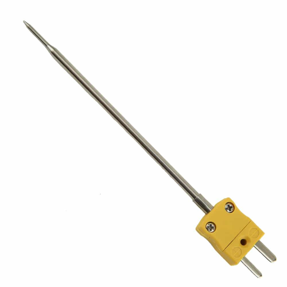 Food K type thermocouple pointed probe temperature sensor with mini plug