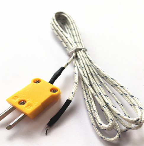 mineral insulated cable simple point probe k type thermocouple with plug