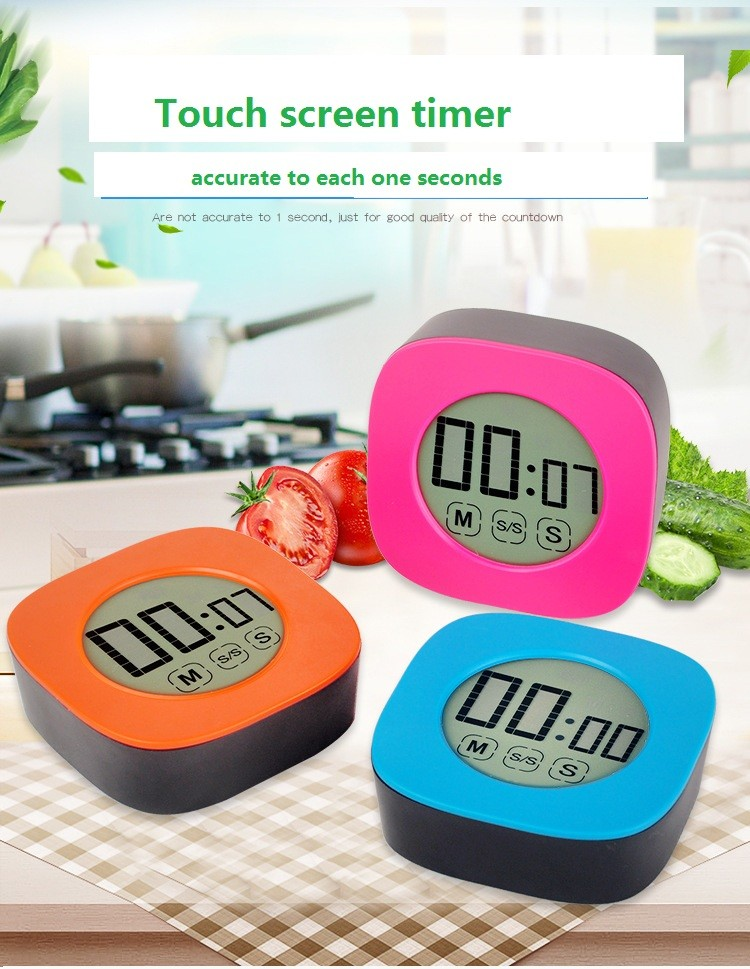 touch screen digital kitchen timer with magnet