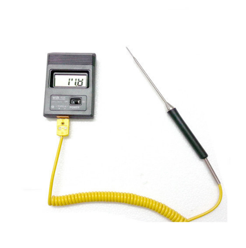 Needle Shaped Handle K type Thermocouple Temperature Sensor with the Yellow Plug