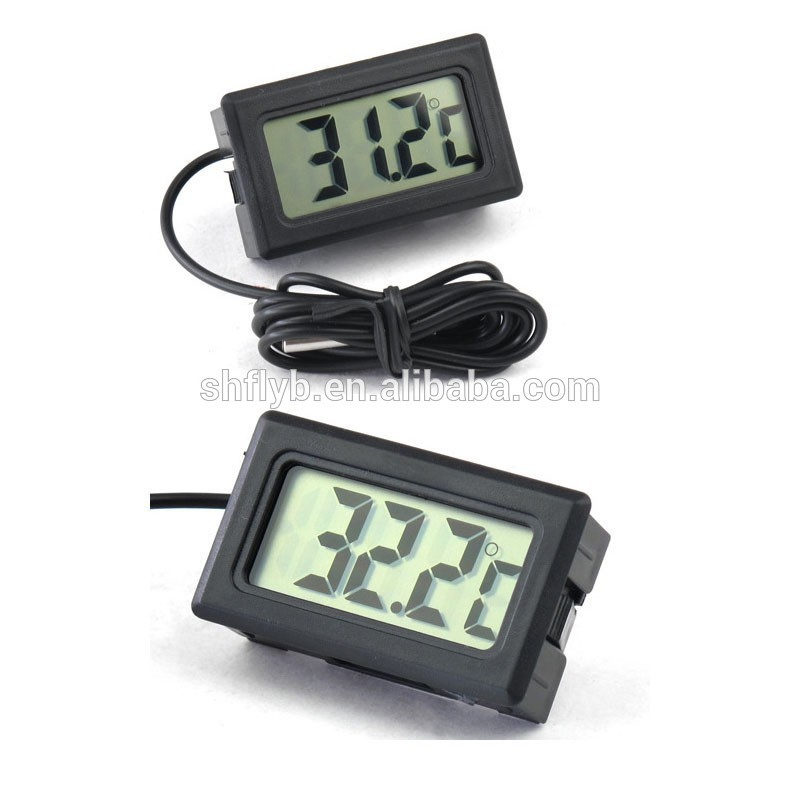 digital water proof lcd display car refrigerator freezer thermometer with temperature probe sensor