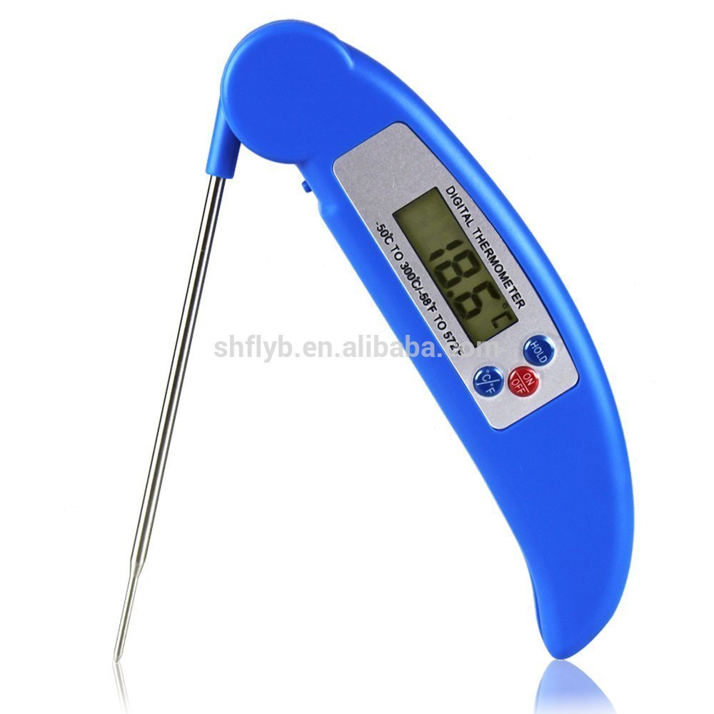 BBQ Thermometer Digital Food Thermometer for Grill Cooking Meat Kitchen Candy with LCD Screen Blue