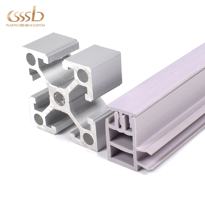 plastic runner profile extrusion for assembly lines customized PVC material