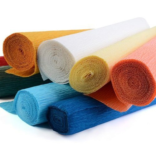 solid color wrapping crepe paper roll packaging for flower