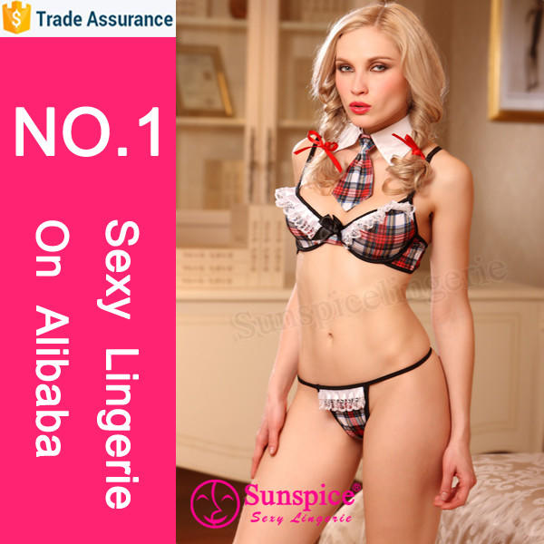 Sunspice sexy lingerie manufacturer new style top quality guarantee sexy school girl photo costume