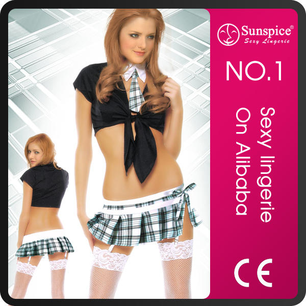 Sunspice TOP quality plaid skirt japan-sexy-school-girl-costume-sex-teacher-uniform