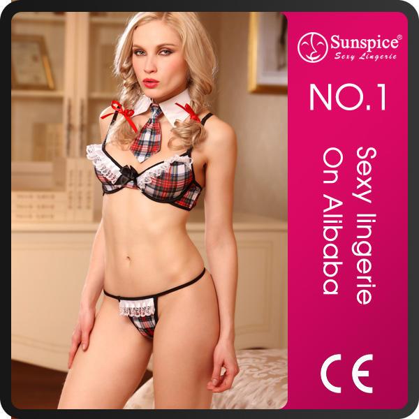 Top quality short dress costume sexy school girls for mature girls