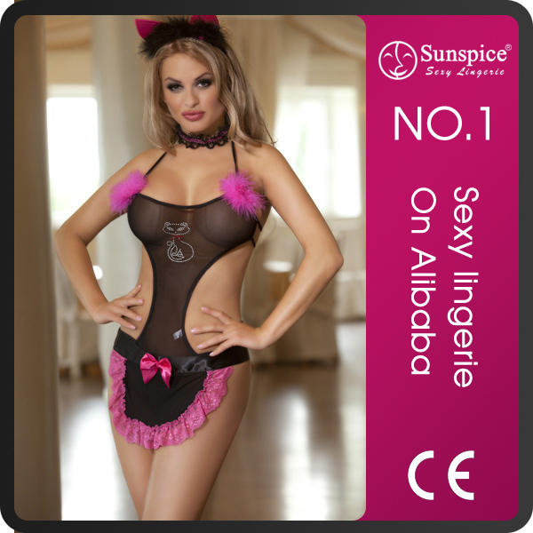 Top quality sexy cat cute woman costume lingerie