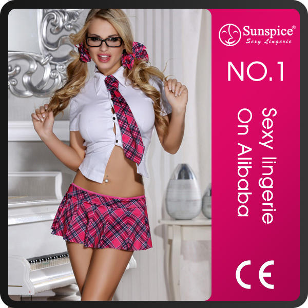 Sunspice china manufacture plus size sexy schoolgirl costume