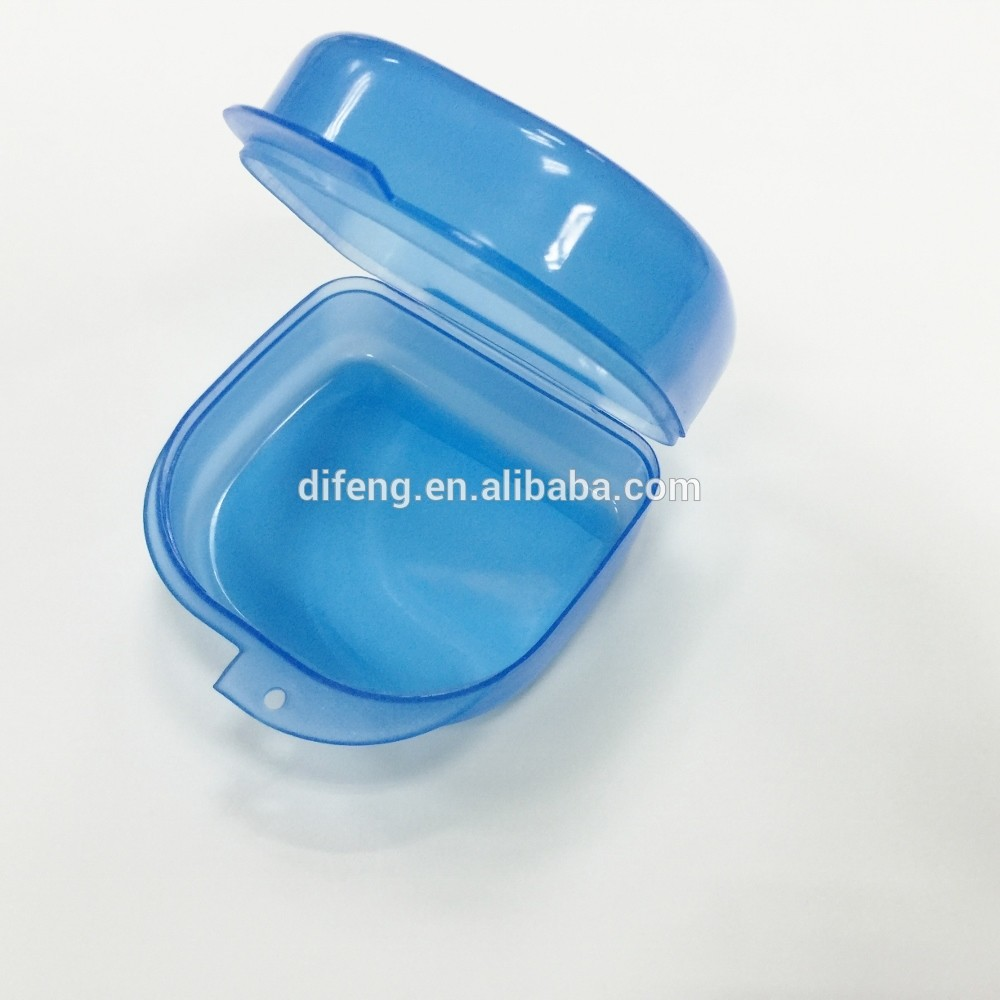 High quality blue plastic teeth mouth tray whitening case