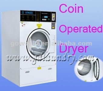 12kg self-service coin operated drying machine for commercial use