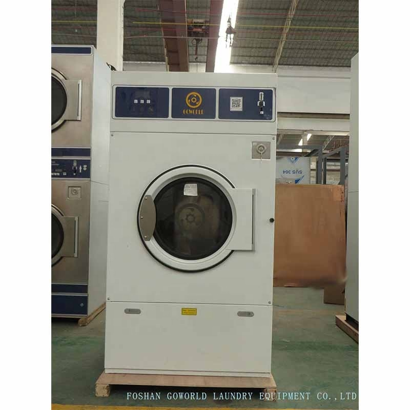 12kg gas heating laundry equipment-laundry shop drying machine washing machine with coin slot