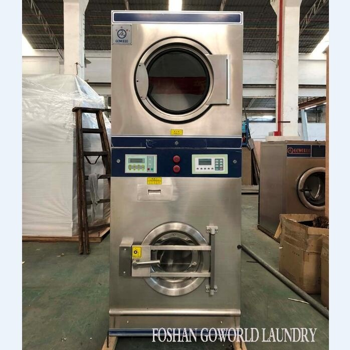 10kg gas heating laundry equipment-combo washer and dryer machine