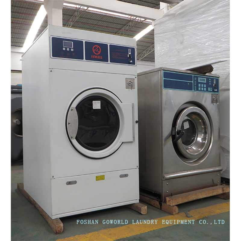 10kg electric heating laundry drying machine-coin operating